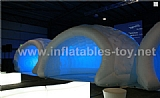 White Air Structure Inflatable Dome Tent With Windows for Party Event With Lights TY-2006