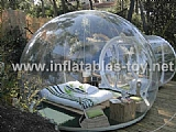 inflatable dome tent for lawn camping with tunnel TY-016