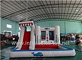 Shark Slide Bouncer Combo Inflatable,KB-1015