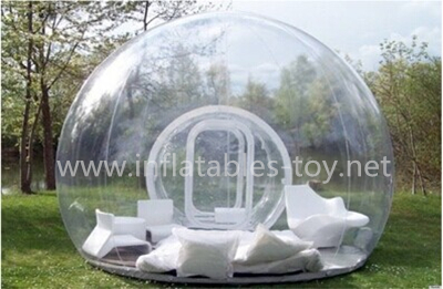 Transparent outdoor inflatable bubble human size snow globe for sale