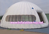 White mobile inflatable igloo tent from manufacture