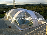 Inflatable Pool Snow Globe Dome Tent