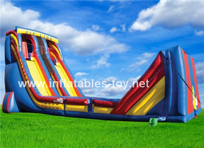 Red Blue Yellow Zip Line Inflatable Zip Line,SPO-97