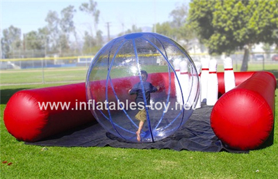 Inflatable human bowling ball game,SPO-86-1
