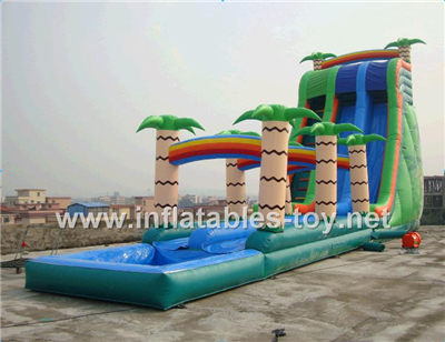 Inflatable palm tree water slide,Waterslide-9