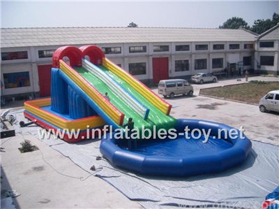Giant water slide with pool,Waterslide-7