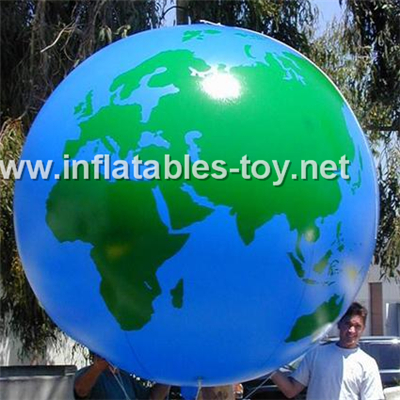 Helium balloon with earth printing,Blimp-1013