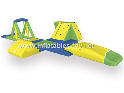 Inflatable trampolin with slide AT-1022