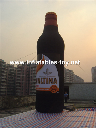 Inflatable red wine bottle,MD-08
