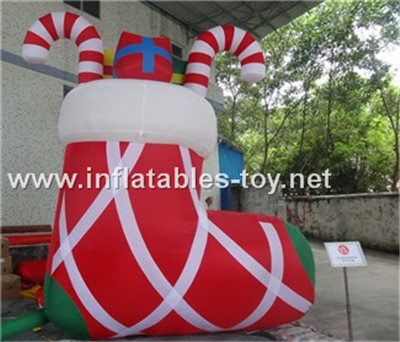 Inflatable christmas shoes for decorations,CHR-1011