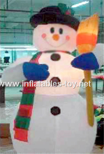 Blow up snowman inflatable xmas outdoor decoration,CHR-1003