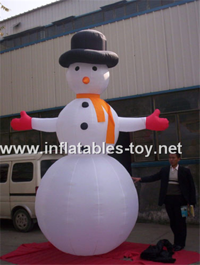 Blow up snowman inflatable xmas outdoor decoration,CHR-1001