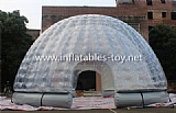 Airtight Inflatable Clear Dome tent Double Layer