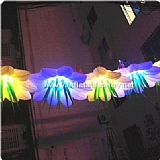 Giant Lighted Inflatable Flower For Stage Decoration